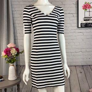 Banana Republic Black &White Strip Dress Size: 0